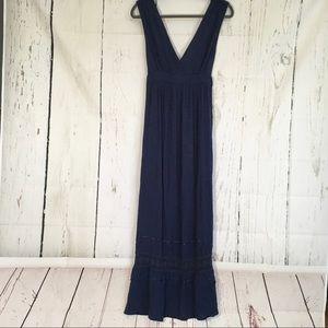 ASOS Blue Maternity Crochet Maxi Dress